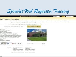 Sprocket Web Requester Training