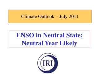 Climate Outlook – July 2011