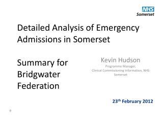 Detailed Analysis of Emergency Admissions in Somerset Summary for  Bridgwater  Federation