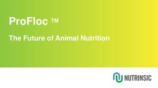 ProFloc  TM The Future of Animal Nutrition