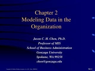 Chapter 2 Modeling Data in the Organization