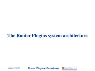 The Router Plugins system architecture