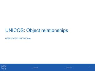 UNICOS: Object relationships