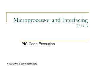 Microprocessor and Interfacing 261313