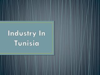 Industry In Tunisia