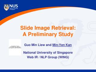 Slide Image Retrieval:  A Preliminary Study