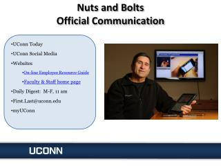 Nuts and Bolts Official Communication