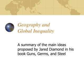 Geography and  Global Inequality