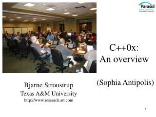 C++0x: An overview (Sophia Antipolis)