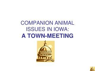 COMPANION ANIMAL ISSUES IN IOWA: A TOWN-MEETING