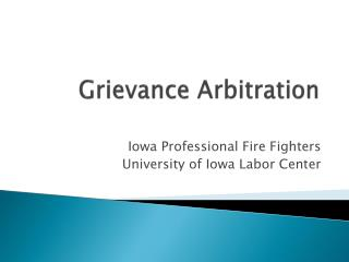 Grievance Arbitration