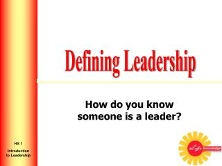 How do you know someone is a leader?
