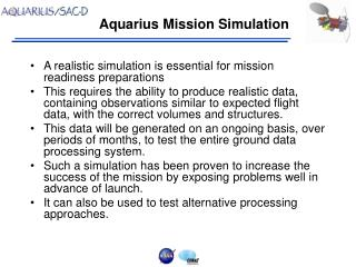 Aquarius Mission Simulation
