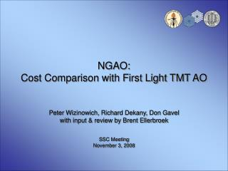 NGAO: Cost Comparison with First Light TMT AO