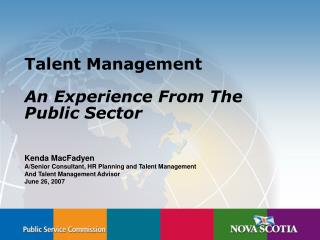 Talent Management  An Experience From The Public Sector