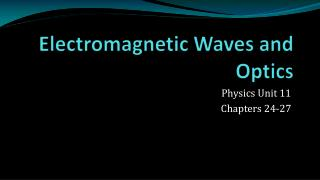 Electromagnetic Waves and Optics