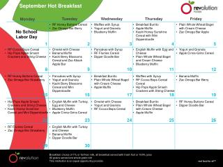 September Hot Breakfast