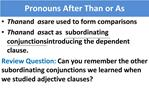 Pronouns After Than or As