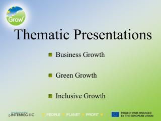Thematic Presentations