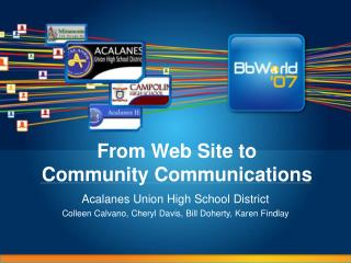 From Web Site to  Community Communications