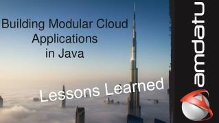 Building Modular Cloud Applications in Java
