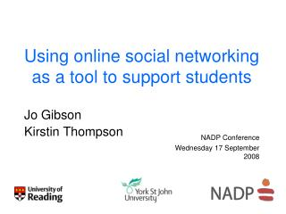Using online social networking as a tool to support students