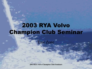 Sailing   RYA National Sailing Scheme