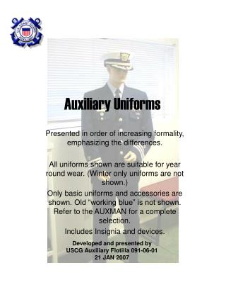 Auxiliary Uniforms