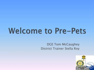 Welcome to Pre-Pets