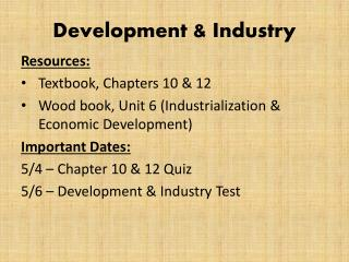 Development & Industry