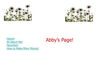 Abby's Page!