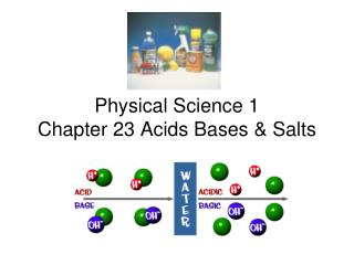 Physical Science 1 Chapter 23 Acids Bases & Salts