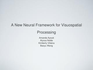 A New Neural Framework for Visuospatial Processing
