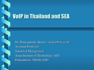VoIP in Thailand and SEA
