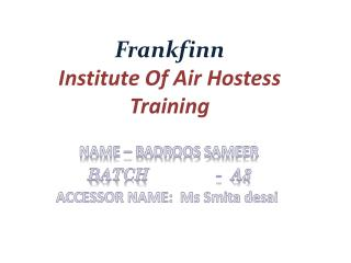 Frankfinn Institute Of Air Hostess Training