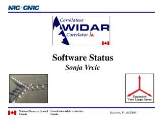Software Status Sonja Vrcic