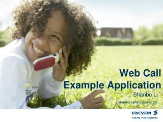 Web Call  Example Application