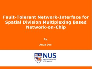 Fault-Tolerant Network-Interface for Spatial Division Multiplexing Based Network-on-Chip