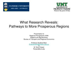 What Research Reveals: Pathways to More Prosperous Regions