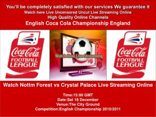 Nottm Forest vs Crystal Palace LIVE STREAM ONLINE