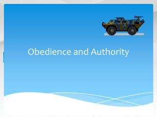 Obedience and Authority