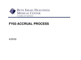 FY03 ACCRUAL PROCESS