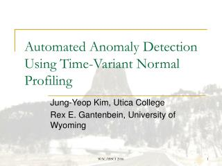 Automated Anomaly Detection Using Time-Variant Normal Profiling