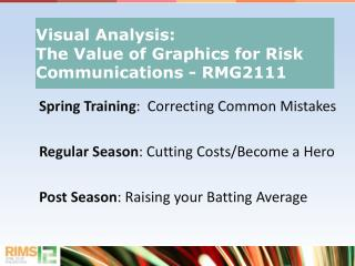 Spring Training :  Correcting Common Mistakes Regular Season : Cutting Costs/Become a Hero