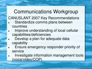 Communications Workgroup