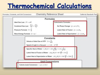 Thermochemical Calculations