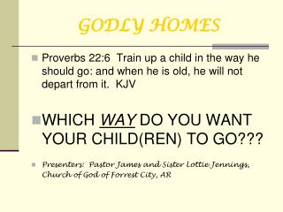 GODLY HOMES