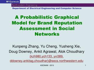 A Probabilistic Graphical Model for Brand Reputation Assessment in Social Networks