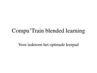 Compu'Train blended learning