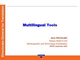 Multilingual Tools